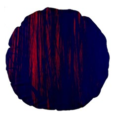 Abstract Color Red Blue Large 18  Premium Round Cushions by Simbadda