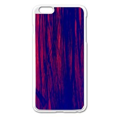 Abstract Color Red Blue Apple Iphone 6 Plus/6s Plus Enamel White Case by Simbadda