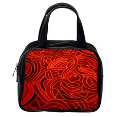 Orange Abstract Background Classic Handbags (one Side) by Simbadda