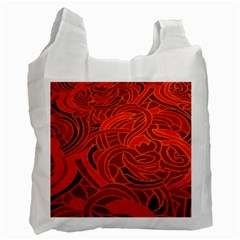 Orange Abstract Background Recycle Bag (two Side)