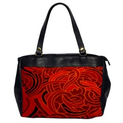 Orange Abstract Background Office Handbags by Simbadda