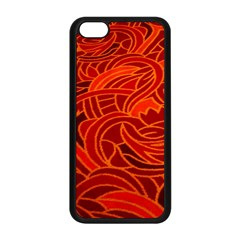 Orange Abstract Background Apple Iphone 5c Seamless Case (black) by Simbadda