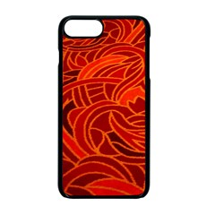Orange Abstract Background Apple Iphone 7 Plus Seamless Case (black) by Simbadda