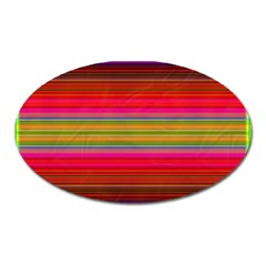 Fiesta Stripe Bright Colorful Neon Stripes Cinco De Mayo Background Oval Magnet