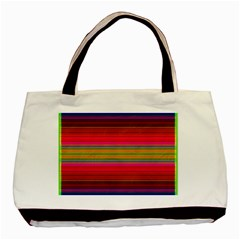 Fiesta Stripe Bright Colorful Neon Stripes Cinco De Mayo Background Basic Tote Bag by Simbadda