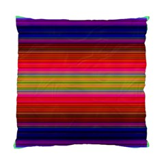Fiesta Stripe Bright Colorful Neon Stripes Cinco De Mayo Background Standard Cushion Case (two Sides)