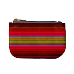 Fiesta Stripe Bright Colorful Neon Stripes Cinco De Mayo Background Mini Coin Purses by Simbadda