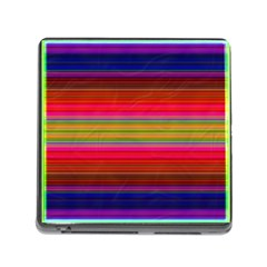 Fiesta Stripe Bright Colorful Neon Stripes Cinco De Mayo Background Memory Card Reader (square) by Simbadda
