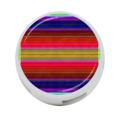 Fiesta Stripe Bright Colorful Neon Stripes Cinco De Mayo Background 4-port Usb Hub (two Sides)  by Simbadda