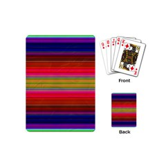 Fiesta Stripe Bright Colorful Neon Stripes Cinco De Mayo Background Playing Cards (mini)  by Simbadda
