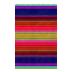 Fiesta Stripe Bright Colorful Neon Stripes Cinco De Mayo Background Shower Curtain 48  X 72  (small)  by Simbadda