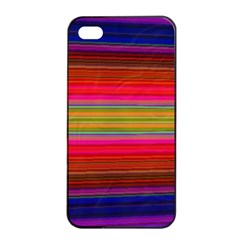 Fiesta Stripe Bright Colorful Neon Stripes Cinco De Mayo Background Apple Iphone 4/4s Seamless Case (black) by Simbadda