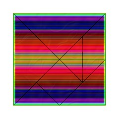 Fiesta Stripe Bright Colorful Neon Stripes Cinco De Mayo Background Acrylic Tangram Puzzle (6  X 6 ) by Simbadda