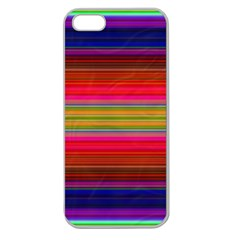 Fiesta Stripe Bright Colorful Neon Stripes Cinco De Mayo Background Apple Seamless Iphone 5 Case (clear)