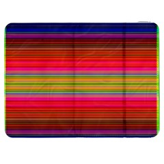Fiesta Stripe Bright Colorful Neon Stripes Cinco De Mayo Background Samsung Galaxy Tab 7  P1000 Flip Case by Simbadda