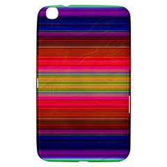 Fiesta Stripe Bright Colorful Neon Stripes Cinco De Mayo Background Samsung Galaxy Tab 3 (8 ) T3100 Hardshell Case  by Simbadda