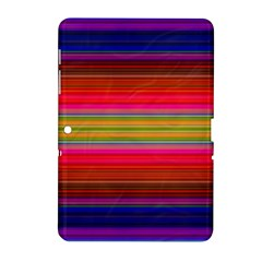 Fiesta Stripe Bright Colorful Neon Stripes Cinco De Mayo Background Samsung Galaxy Tab 2 (10 1 ) P5100 Hardshell Case  by Simbadda