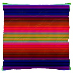 Fiesta Stripe Bright Colorful Neon Stripes Cinco De Mayo Background Standard Flano Cushion Case (two Sides)