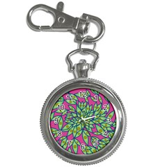 Big Growth Abstract Floral Texture Key Chain Watches by Simbadda