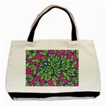 Big Growth Abstract Floral Texture Basic Tote Bag (Two Sides) Back