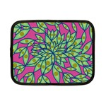 Big Growth Abstract Floral Texture Netbook Case (Small)  Front
