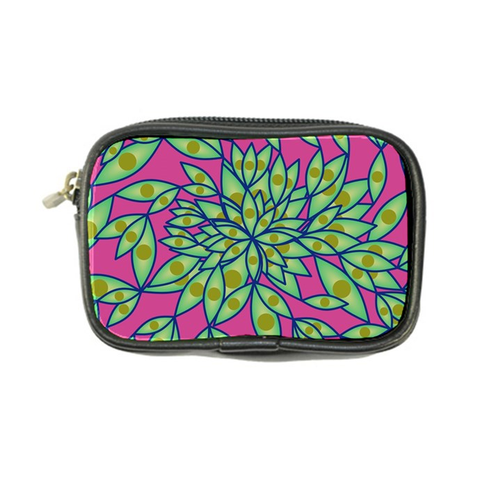 Big Growth Abstract Floral Texture Coin Purse