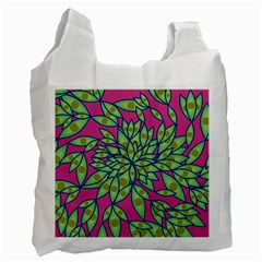 Big Growth Abstract Floral Texture Recycle Bag (one Side) by Simbadda
