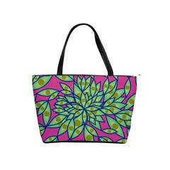 Big Growth Abstract Floral Texture Shoulder Handbags by Simbadda