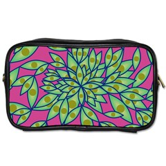 Big Growth Abstract Floral Texture Toiletries Bags 2 Side