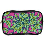Big Growth Abstract Floral Texture Toiletries Bags 2-Side Back