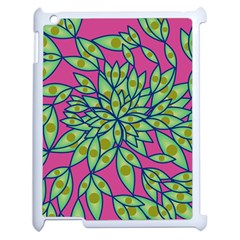 Big Growth Abstract Floral Texture Apple Ipad 2 Case (white) by Simbadda