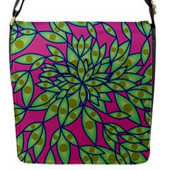 Big Growth Abstract Floral Texture Flap Messenger Bag (s)