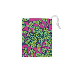 Big Growth Abstract Floral Texture Drawstring Pouches (xs)