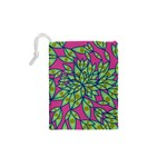 Big Growth Abstract Floral Texture Drawstring Pouches (XS)  Back