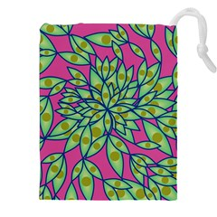 Big Growth Abstract Floral Texture Drawstring Pouches (xxl)