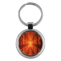 Abstract Wallpaper With Glowing Light Key Chains (round)  by Simbadda
