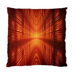 Abstract Wallpaper With Glowing Light Standard Cushion Case (one Side) by Simbadda