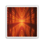 Abstract Wallpaper With Glowing Light Memory Card Reader (Square)  Front