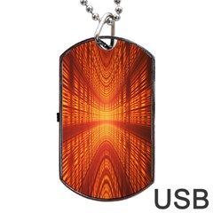 Abstract Wallpaper With Glowing Light Dog Tag Usb Flash (two Sides) by Simbadda