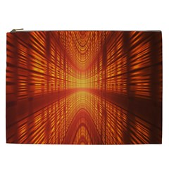Abstract Wallpaper With Glowing Light Cosmetic Bag (xxl)