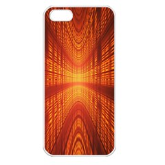 Abstract Wallpaper With Glowing Light Apple Iphone 5 Seamless Case (white)
