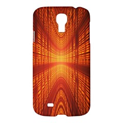 Abstract Wallpaper With Glowing Light Samsung Galaxy S4 I9500/i9505 Hardshell Case by Simbadda