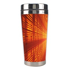 Abstract Wallpaper With Glowing Light Stainless Steel Travel Tumblers by Simbadda