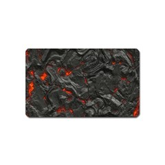 Volcanic Lava Background Effect Magnet (name Card) by Simbadda