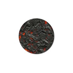 Volcanic Lava Background Effect Golf Ball Marker (10 Pack) by Simbadda