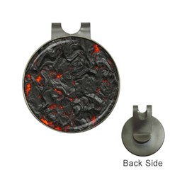 Volcanic Lava Background Effect Hat Clips With Golf Markers by Simbadda