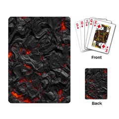 Volcanic Lava Background Effect Playing Card by Simbadda