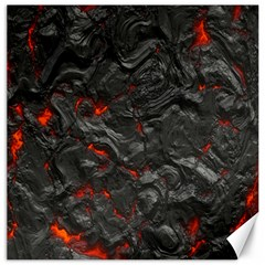 Volcanic Lava Background Effect Canvas 12  X 12   by Simbadda