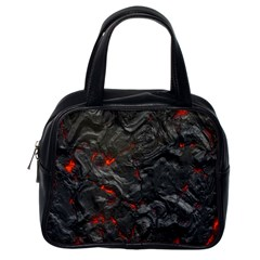 Volcanic Lava Background Effect Classic Handbags (one Side) by Simbadda