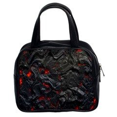 Volcanic Lava Background Effect Classic Handbags (2 Sides)